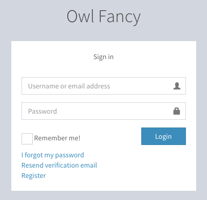 User sign-in